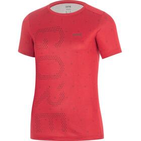 GORE WEAR M Brand T-Shirt Damer rød